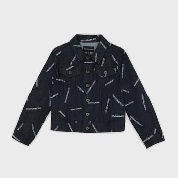 textil Niño chaquetas denim Emporio Armani Angelo Azul