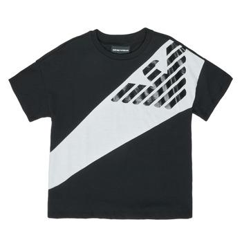 textil Niño camisetas manga corta Emporio Armani Blaise Negro / Blanco