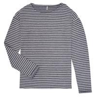 textil Niña Camisetas manga larga Only KONNELLY Blanco / Marino