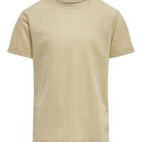 textil Niña camisetas manga corta Only KONSILVERY Oro