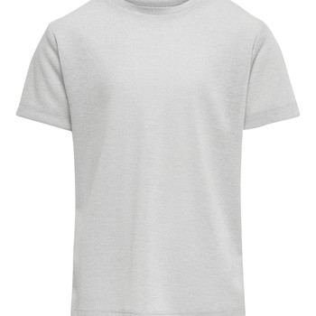 textil Niña camisetas manga corta Only KONSILVERY Plata