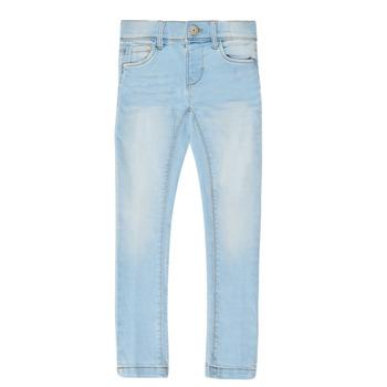 textil Niña Vaqueros slim Name it NMFPOLLY DNMCILLE Azul