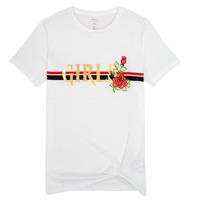 textil Niña camisetas manga corta Name it NKFBARBRA Blanco