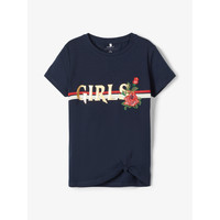 textil Niña camisetas manga corta Name it NKFBARBRA Marino