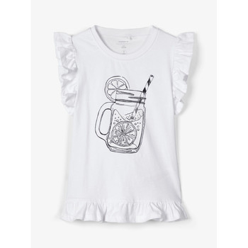 textil Niña camisetas sin mangas Name it NKFZELANA Blanco