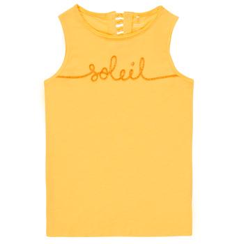 textil Niña Camisetas sin mangas Name it NKFFAMILA Amarillo