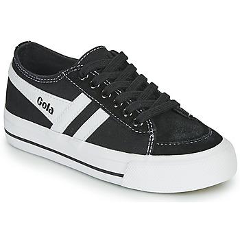 Zapatos Niños Zapatillas bajas Gola QUOTA II Negro / Blanco