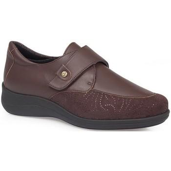 Zapatos Mujer Derbie & Richelieu Calzamedi S  MUY Y ELASTICO DIABETICO MARRON