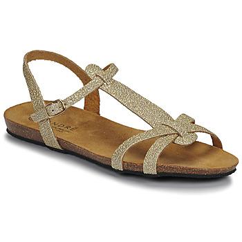 Zapatos Mujer Sandalias André BORA Oro