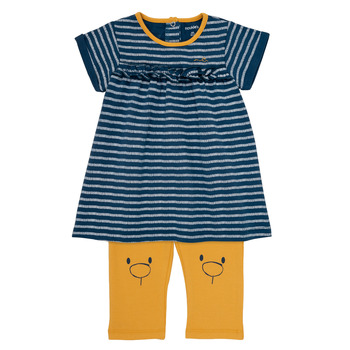 textil Niña Vestidos cortos Noukie's AYOUB Azul / Amarillo