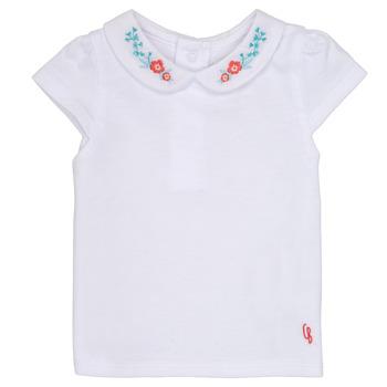 textil Niña Camisetas manga corta Carrément Beau MAYVE Blanco