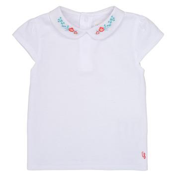 textil Niña Camisetas manga corta Carrément Beau JULIEN Blanco