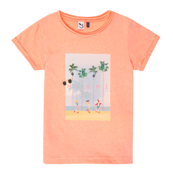 textil Niña camisetas manga corta 3 Pommes LEA Naranja