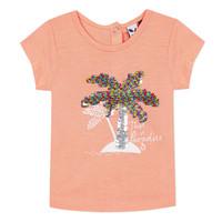 textil Niña camisetas manga corta 3 Pommes EMMA Naranja