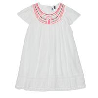 textil Niña Vestidos cortos 3 Pommes LAURA Blanco