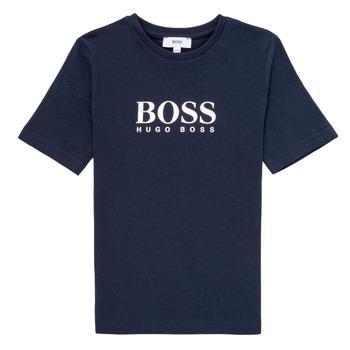 textil Niño Camisetas manga corta BOSS MARIA Azul