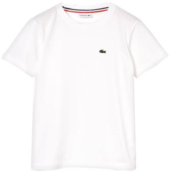 textil Niño camisetas manga corta Lacoste NAE Blanco