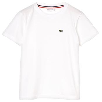 textil Niño Camisetas manga corta Lacoste ALIZE Blanco