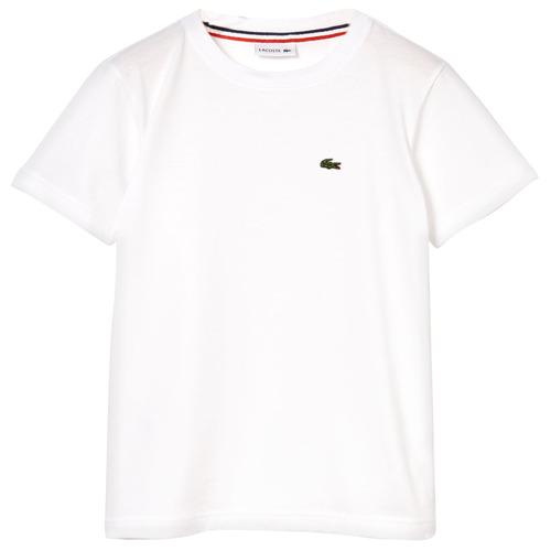 textil Niño Camisetas manga corta Lacoste APAULINE Blanco