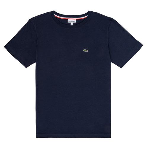 textil Niño Camisetas manga corta Lacoste JUSTYNE Marino
