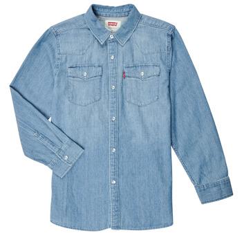textil Niño Camisas manga larga Levi's BARSTOW WESTERN SHIRT Azul