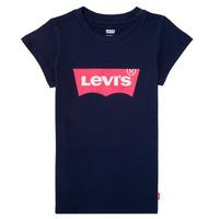 textil Niña Camisetas manga corta Levi's BATWING TEE Marino