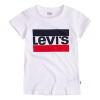 textil Niña Camisetas manga corta Levi's SPORTSWEAR LOGO TEE Blanco