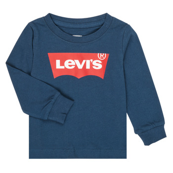 textil Niño Camisetas manga larga Levi's BATWING TEE LS Marino
