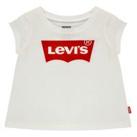 textil Niña Camisetas manga corta Levi's BATWING TEE Blanco