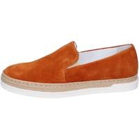 Zapatos Mujer Slip on Bouvy slip on gamuza marrón