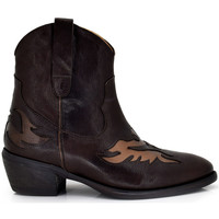 Zapatos Mujer Botines Exé Shoes BOTINES COWBOY DETALLES BRONCE DALLAS-902 Color Marrón