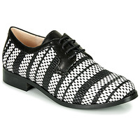 Zapatos Mujer Derbie Fericelli MILEYNE Negro / Blanco