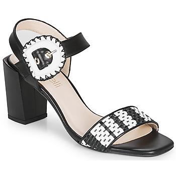 Zapatos Mujer Sandalias Fericelli MAIRA Negro / Blanco