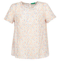 textil Mujer Tops / Blusas Benetton  Blanco / Multicolor