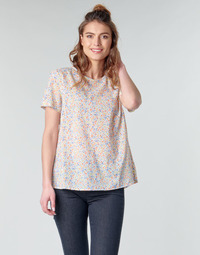textil Mujer Tops / Blusas Benetton  Blanco / Multicolor
