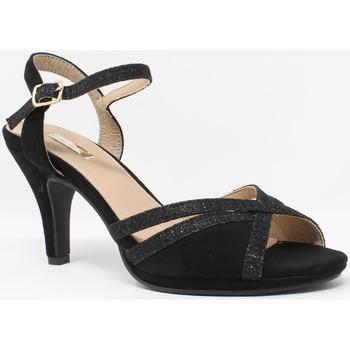 Zapatos Mujer Sandalias Bienve Ceremonia señora  1a-17518 negro Negro
