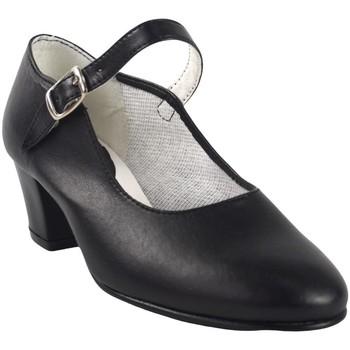Zapatos Niña Bailarinas-manoletinas Bienve FLAMENCA-CORREA negro