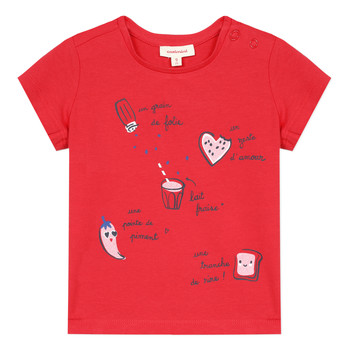textil Niña camisetas manga corta Catimini MUSIKOU Rojo