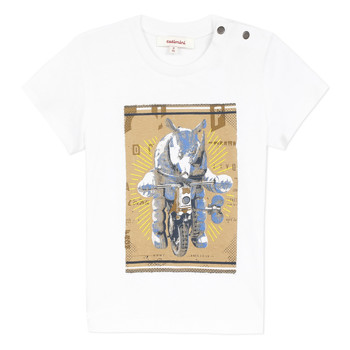 textil Niño Camisetas manga corta Catimini LARIBI Blanco