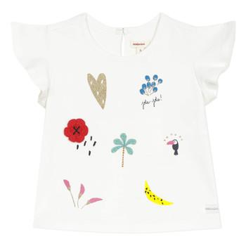 textil Niña camisetas manga corta Catimini NADEGE Blanco