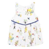 textil Niña vestidos cortos Catimini BIXENTE Blanco