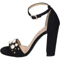 Zapatos Mujer Sandalias Olga Rubini sandalias gamuza sintética tachuelas negro
