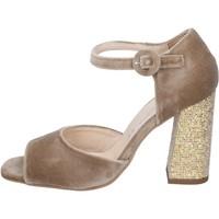 Zapatos Mujer Sandalias Olga Rubini sandalias terciopelo beige