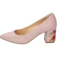Zapatos Mujer Zapatos de tacón Olga Rubini de salón gamuza sintética rosa
