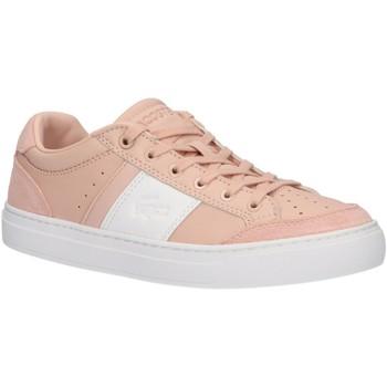 Zapatos Mujer Zapatillas bajas Lacoste 38CFA0050 COURTLINE 7F8 NAT-WHT Marrón