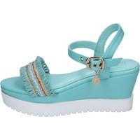 Zapatos Mujer Sandalias Enrico Coveri sandalias cuero sintético azul claro
