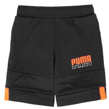 textil Niño Shorts / Bermudas Puma ALPHA JERSEY SHORT Negro