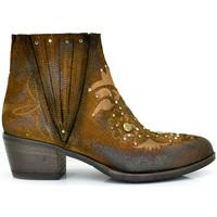 Zapatos Mujer Botines Exé Shoes BOTINES TACÓN BAJO DETALLES  BELA-408 Color Cuero