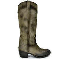 Zapatos Mujer Botas urbanas Exé Shoes BOTAS ALTA CAMPERAS CON TACÓN BELA-448 GREY Color Gris