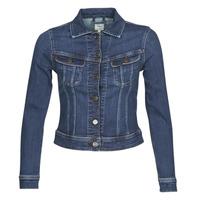 textil Mujer chaquetas denim Lee SLIM RIDER JACKET Dark